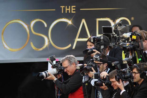 HOLLYWOOD, CA - FEBRUARY 24:  Photographers cover the red carpet arrivals to the 85th Annual Academy Awards at the Hollywood & Highland Center on February 24, 2012 in Hollywood, California.  (Photo by David McNew/Getty Images)