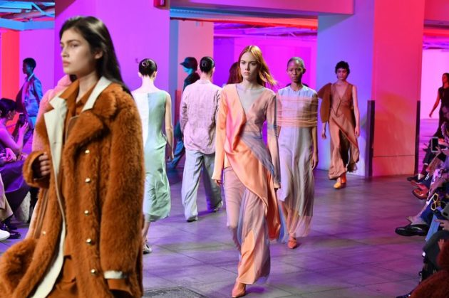 NEW YORK, NY - FEBRUARY 11:  Models walk the runway at Sies Marjan fashion show during the February 2018 New York Fashion Week at Penn Plaza Pavilion on February 11, 2018 in New York City.  (Photo by Slaven Vlasic/Getty Images)