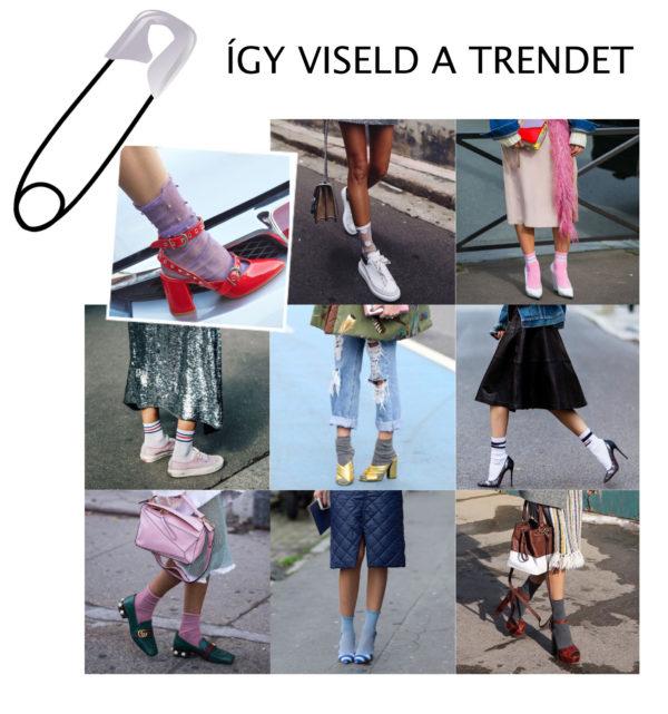 ÍGY VISELD A TRENDET zokni