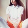 Női ing Culotte narancs-fehér