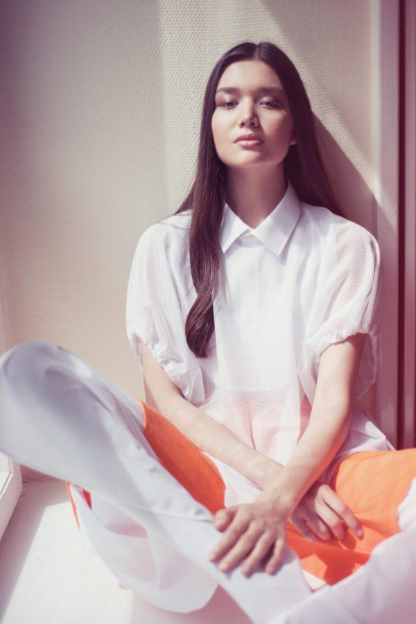 Fehér hálós női póló